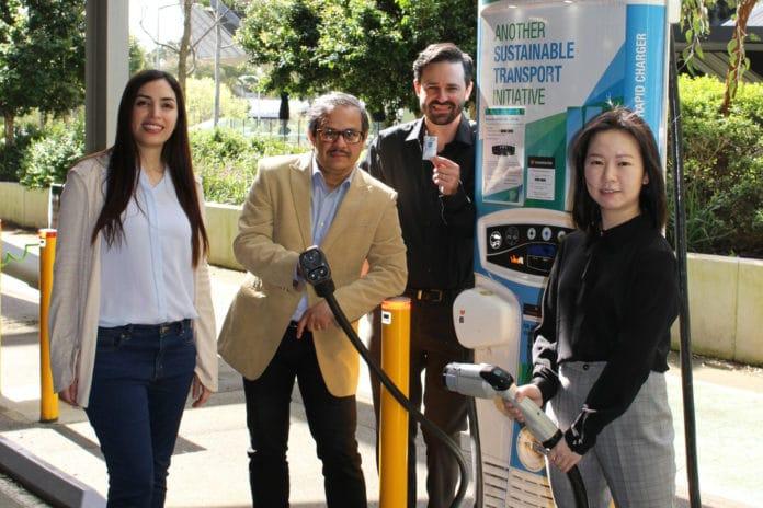 The Monash Energy Institute team (L-R): Mahdokht Shaibani, Mainak Majumder, Matthew Hill, Yingyi Huang.