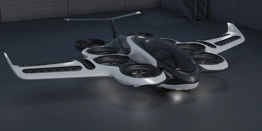 The photo is a rendering of our actual VTOL under development.