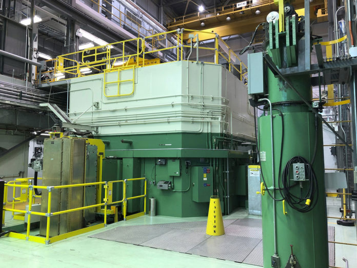 The image shows the Transient Test Reactor at the Idaho National Laboratory.