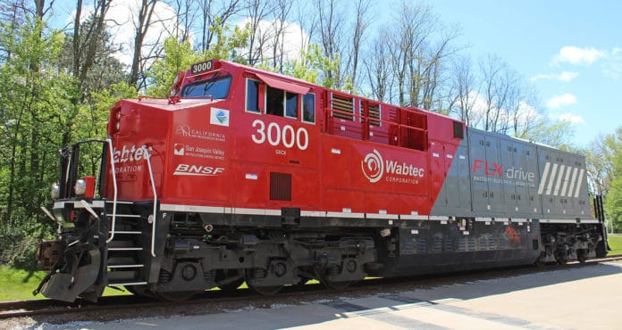 Wabtec unveils world's first 100% battery- electric freight train.