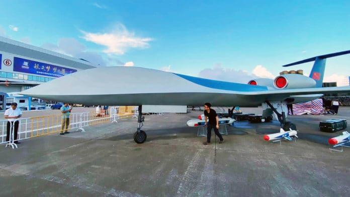 Renderings of the CH-6 large twin-engine unmanned aircraft system.