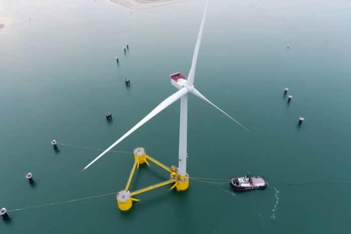Kincardine floating offshore wind farm.