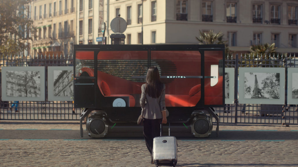 Citroën Skate with Sofitel En Voyage pod that is specific for urban mobility.