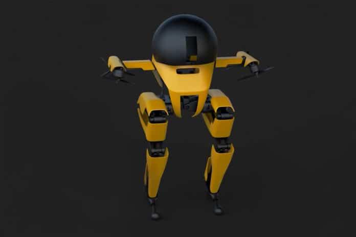 Meet LEONARDO, a bipedal robot that can fly, walk, and skateboard.