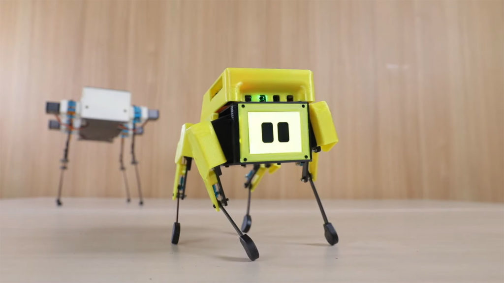 . The robot also has an animated LCD face that can be programmed to display different expressions.