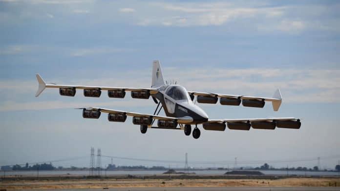 First test flight of teTra's single-seat Mk-5 eVTOL aircraft.