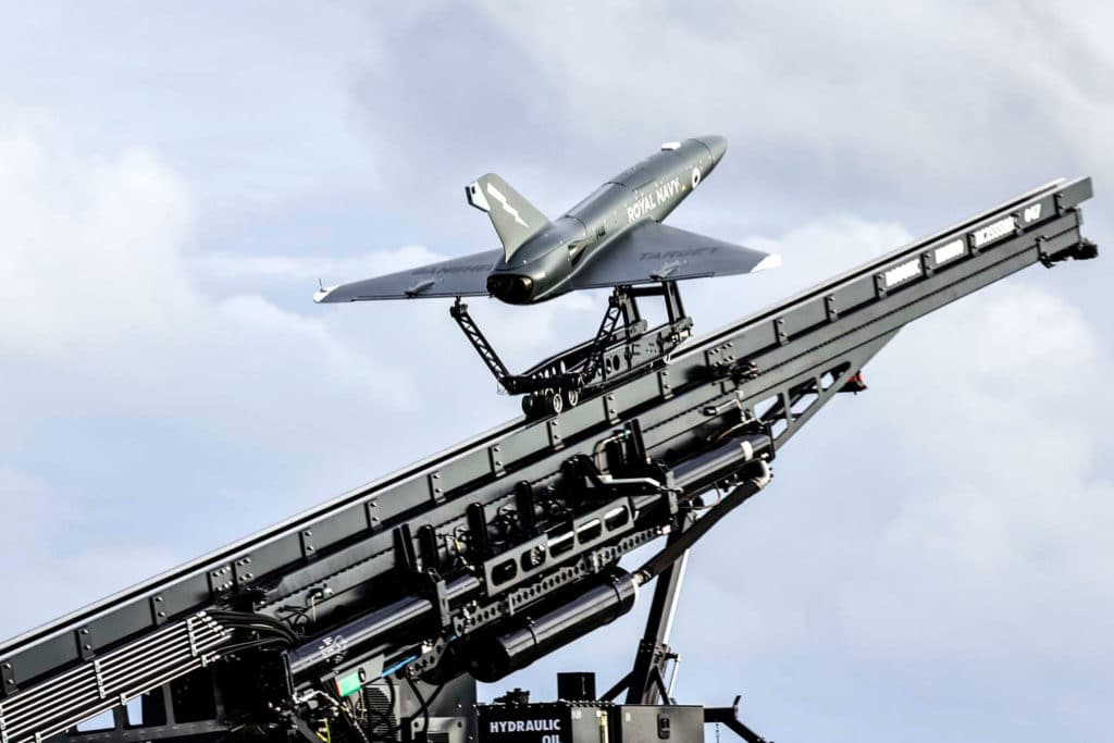 QinetiQ Banshee Jet 80+ drones launched from HMS Prince of Wales during landmark demonstration.