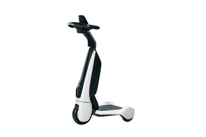 Toyota launches C+walk T, a three-wheeled stand-up e-scoot for walking areas.