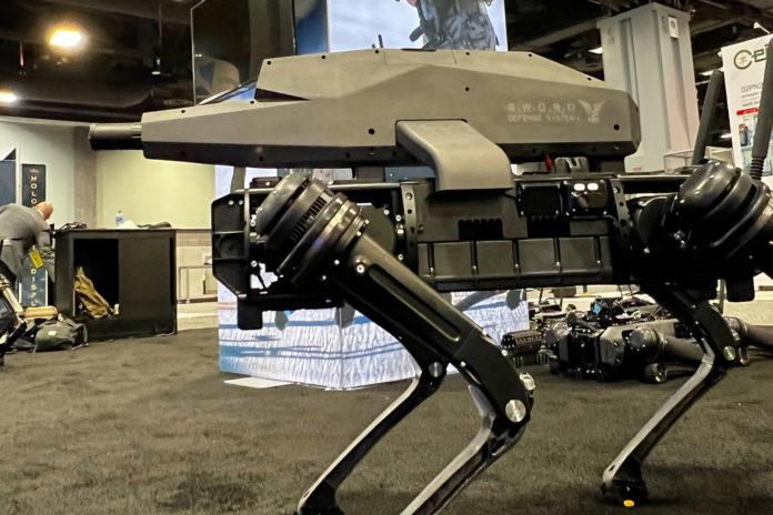 Robotics company strapped high-tech sniper rifle to a robot dog.