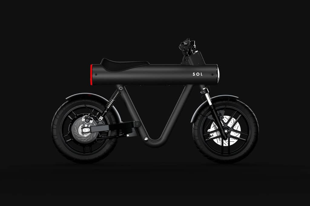 The electric motorbike can reach a top speed of 80 km/h with 80 km single-charge range.